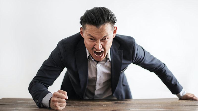 احساس خشم و عصبانیت